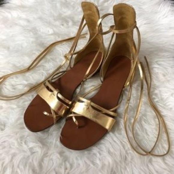 Zara gladiator Sandals used once